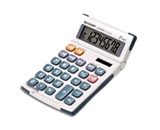 Sharp El-330MB 8-Digit Hand-Held Calculator w/Slant Display