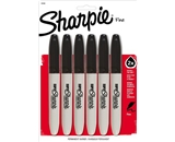 Sharpie Super Fine Point Permanent Markers, 6 Black Markers (33666PP)