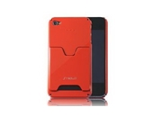 SHIELD iShell City Traveller Ultra-Slim Polycarbonate Case for iPhone 4 (GLOSSY Red) (AT&T ONLY)