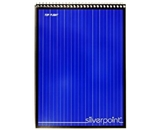 Silverpoint Steno Book, Gregg Rule, Heavy Back, 6 x 9 Inches, 120 Sheets, Protective Cover, Blue/Black