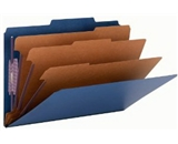 Smead Classification Folder, Legal, 2/5 Right Of Center, 3 Dividers, Dark Blue, 10 per Box (19096)