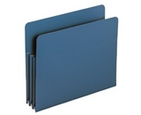 Smead Expanding File Pockets, Straight Cut, 3-1/2-Inch Expansion, Letter Size, Blue, Poly, 4 Pack (73503)