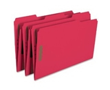 Smead Fastener Folder, Legal, Two 2-Inch K Style #1 and #3 Fasteners, 1/3 Cut Tab, Red, 50 per Box (17740)