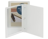 Smead Frame View Report Cover with Fastener Closure, Letter Size, Poly, Oyster, 5 Pack (86021)