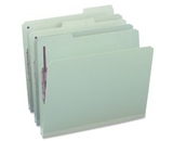 Smead Pressboard File Folders with SafeSHIELD Fasteners, Letter Size, 1/3 Cut Tab, Two Fasteners