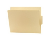 Smead Shelf-Master Folders, 1/3 Cut Center Position 2-Ply End Tab, Letter Size, Manila, 100 per Box (24136)