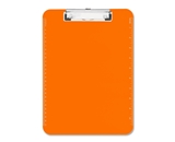 Sparco SPR01866 Transparent Plastic Clipboard, Flat Clip, 9-x12-1/2-, Neon Orange
