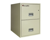 Sentry 2G2510 2 Drawer, 25- Deep Fireproof Impact Resistant Vertical Legal File