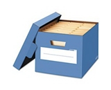 Stor/File Decorative Storage Box Letter/Legal Cornflower Blue 4/Carton