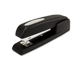 Swingline 747 Business Manual Desktop Stapler, Antimicrobial, 20 Sheet Capacity, Black, Commercial Box