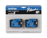 Brother TCMOZ 3/8 Inch Black on Clear Matte P-Touch Tape
