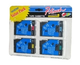 Brother TC50 1/2 Inch P-Touch Tape, Black on Red, Black on Blue, Black on Yellow, Black on Green