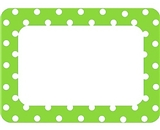 Teacher Created Resources Lime Polka Dots Name Tags, No. 2 (5174)