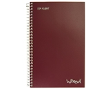 Top Flight Wired 3-Subject Wirebound Notebook with 4 Pockets, 120 Sheets, College Rule, 9.5 x 6.375 In