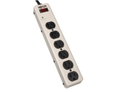 Tripp Lite PM6SN1 Waber Surge Protector Strip Metal 6 Outlet 6ft Cord