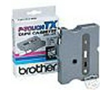 Brother TX3251 3/8 Inch White on Black P-Touch Tape