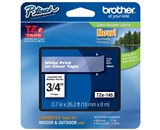 Brother TZ145 3/4 In. White On Clear P-touch Tape, TZe-145