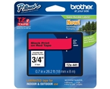 Brother TZ441 3/4 In. Black On Red P-touch Tape, TZe-441