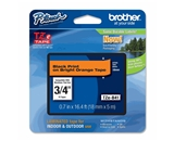 Brother TZB41 3/4 In. Black On Florescent Orange P-touch Tape, TZ-B41