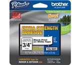 Brother TZS241 3/4 In. Black on White Extra Strength P-touch Tape, TZe-S241