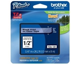 Brother TZe131 Black on Clear 1/2 Inch Labeling Tape