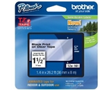 Brother TZe161 Laminated Black on Clear, 1.5 Inch Tape