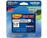 Brother TZe2312PK Laminated Black on White Tape