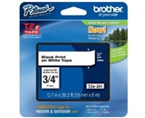 Brother TZe241 Laminated Tape Black on White, 18mm