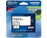 Brother TZe261 Laminated Black on White 1.5 Inch Tape