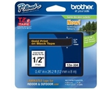 Brother TZe334 1/2-, 0.47- Gold/Black Tape