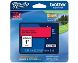 Brother TZe451 Tape, Retail Packaging, 1 Inch, Black on Red