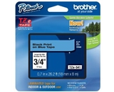Brother TZe541 Tape, Black on Blue, 18mm