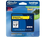 Brother TZe631 Tape, 1/2 Inch, Black on Yellow