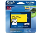 Brother TZe661 Laminated Black on Yellow 1.5 Inch Tape