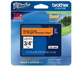 Brother TZeB41 Laminated Black on fluorescent Orange 3/4 Inch Tape