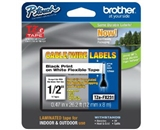 Brother TZeFX231 Laminated Flexible ID Black on White 1/2 Inch Tape