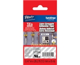 Brother TZeS135 Laminated Extra-Strength White on Clear 1/2 Inch Tape