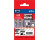Brother TZeS141 Extra Strength Tape, Laminated Black on Clear, 18mm