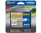 Brother TZeS231 Extra Strength Tape, Black on White, 12mm