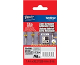 Brother TZeS961 Laminated Extra-Strength Black on Matte Silver 1.5 Inch Tape