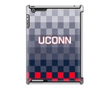 Uncommon LLC Pixel Stripe Deflector Hard Case for iPad 2/3/4, University of Connecticut (C0050-HX)