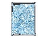 Uncommon LLC Linear Floral Blue Deflector Hard Case for iPad 2/3/4 (C0050-YP)