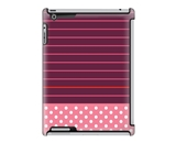 Uncommon LLC Stripe Dot Pink Deflector Hard Case for iPad 2/3/4 (C0050-XZ)