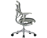 Ergohuman V210FBLK Chair with Black Fabric and Grey Frame