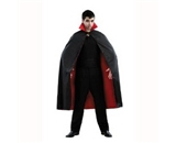 Vampire Cape Men-s Costume- One Size Fits Most