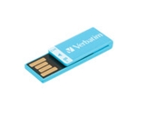 Verbatim 8GB Clip-It USB Flash Drive - Caribbean Blue,Minimum Qty. 10 - 43934