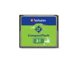 Verbatim 2GB CompactFlash Memory Card,Minimum Qty. 4 - 47012