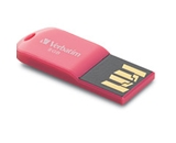 Verbatim 8GB Micro USB Flash Drive - Hot Pink,Minimum Qty. 12 - 47424