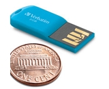 Verbatim 8GB Micro USB Flash Drive - Caribbean Blue,Minimum Qty. 12 - 47425