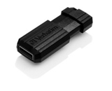 Verbatim 4GB Pinstripe USB Flash Drive - Black,Minimum Qty. 10 - 49061